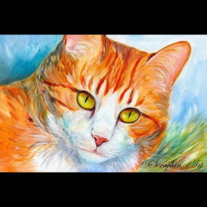 2012-04-116 Cat Acrylic Painting