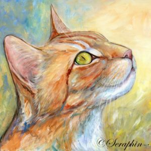 2013-02-207 Cat Acrylic Painting