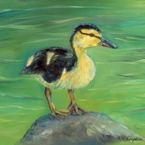 2015-02-215 Duckling Oil Painting