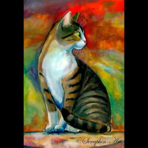 2014-12-029 Cat Watercolor Painting (2)
