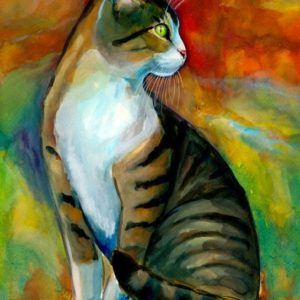 2014-12-029 Cat Watercolor Painting