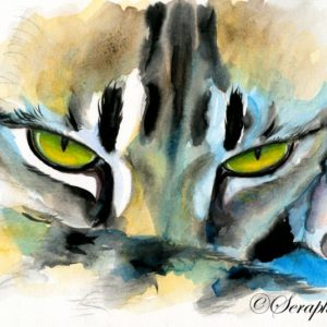2017-02-010 Cat Watercolor Painting