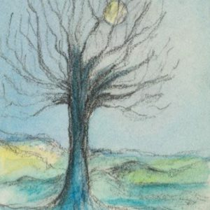 2018-09-041 Tree Miniature ACEO Drawing