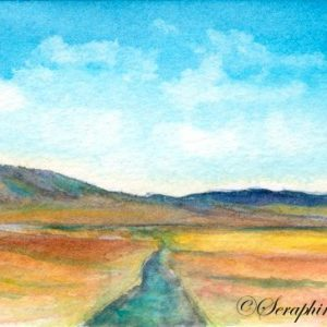 2018-10-271 Landscape Watercolor ACEO Painting