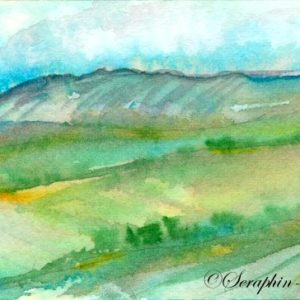 2018-10-273 Landscape Watercolor ACEO Painting