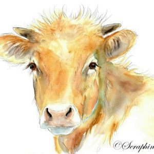 2018-11-210 Cow Watercolor Painting