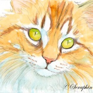 2018-12-023 Cat ACEO Watercolor Painting