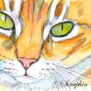 2018-12-106 Cat ACEO Watercolor Painting