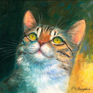 2014-06-201 Tabby Cat Oil Painting