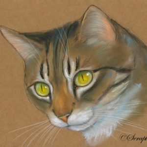 2014-01-015 Tabby Cat Pastel Painting