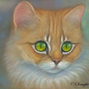 2014-08-003 Ginger Kitten Pastel Painting