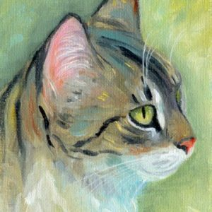 2019-04-045 Cat ACEO Oil Painting