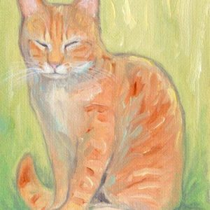 2019-04-046 Cat ACEO Oil Painting