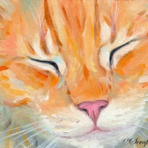 2019-04-071 Cat ACEO Oil Painting
