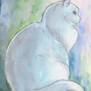 2019-05-002 Cat ACEO Watercolor Painting