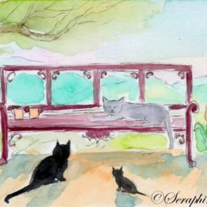 2019-05-025 Cat Fantasy ACEO Watercolor Painting