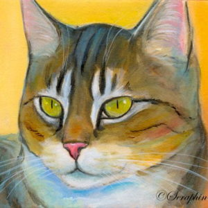 2019-06-016 Cat Acrylic ACEO Painting