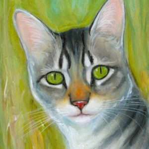 2019-06-052 Tabby Miniature ACEO Painting