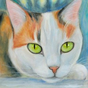 2019-06-055 Calico Cat Pencil ACEO Painting