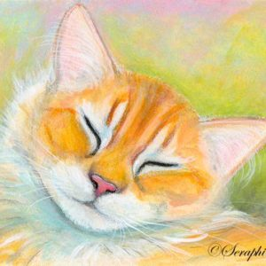 2019-07-010 Ginger Cat ACEO Pencil Painting