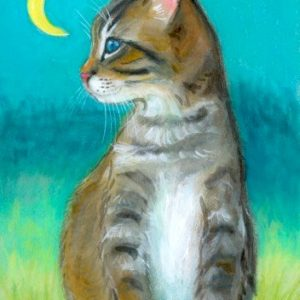 2019-07-017 Tabby Cat ACEO Painting