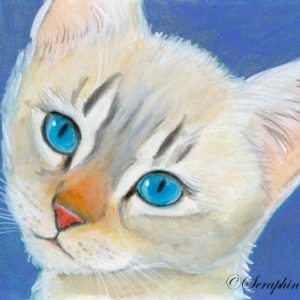 2019-07-024 Colorpoint Kitten ACEO Painting