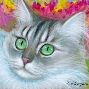2019-07-028 Chinchilla Cat ACEO Miniature Painting