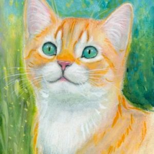 2019-07-042 Ginger Kitten Pencil ACEO Painting