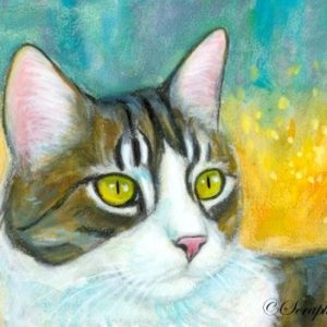 2019-07-043 Tabby Cat ACEO Pencil Painting