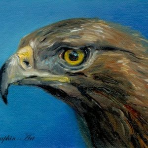 2018-05-178 Golden Eagle ACEO Oil Painting