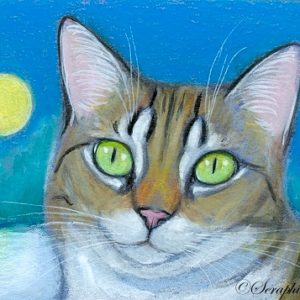 2019-10-007 Tabby Cat ACEO Painting